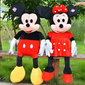 3 Colors Big Mickey Mouse Dolls Large Minnie Mouse Stuffed Plush Toy Very Soft Minnie Mouse Doll Valentine's Day Gift for Girls