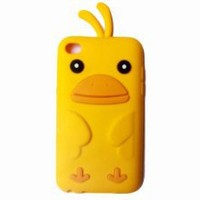 Cute 3D Chicken Silicone Case Cover Skin for Apple IPOD TOUCH 4 4G 4TH GENERATION Yellow