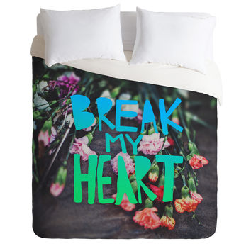 Leah Flores Break My Heart Duvet Cover
