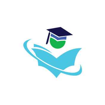 Graduation Hat and Student Book Logo Design Vector for Your Future Business