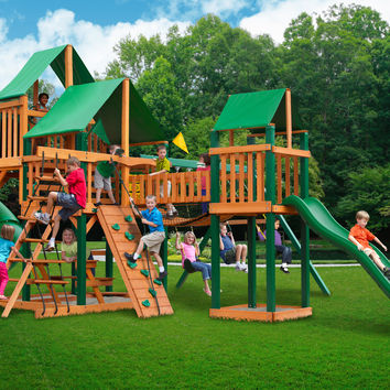 Gorilla Playsets Treasure Trove I Deluxe Wooden Swing Set