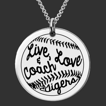 Softball Coach Personalized Necklace