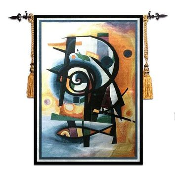 DCCKJG2 58*79cm Mediterranean style home art decor abstract fish wall carpet picture hanging tapestry RS-17