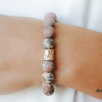 Summer Shoreline Bracelet - Rhodonite
