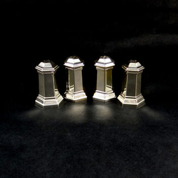 Silver Plated Salt and Pepper Shakers by Wm. A. Rogers Oneida LTD