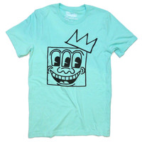 Keith Haring 3 eyes - Basquiat Crown Mashup Unisex T-shirt by American Anarchy Brand (mint)