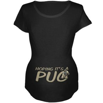 CREYCY8 We're Hoping it's a Pug Funny Cute Puppy Maternity Soft T Shirt