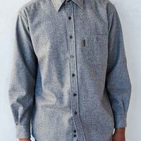 Pendleton Flannel Elbow Patch Button-Down Shirt- Grey