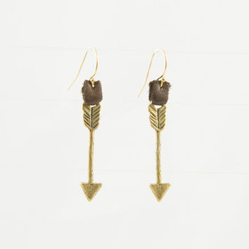 Leather Arrow Earrings