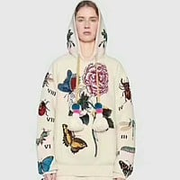 GUCCI  flower rose print sweater hoodie pullover I-AGG-CZDL