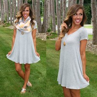 Casual Summer Tunic in Grey