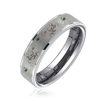 Bling Jewelry Celtic Dragon Tungsten Wedding Ring Band 6mm
