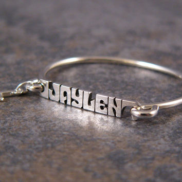 Personalized Bracelet, Name Bracelet, Mother Bracelet, Baby Bracelet with the charm of your choice added