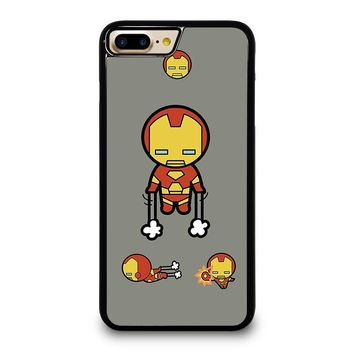 IRON MAN KAWAII Marvel Avengers iPhone 4/4S 5/5S/SE 5C 6/6S 7 8 Plus X Case