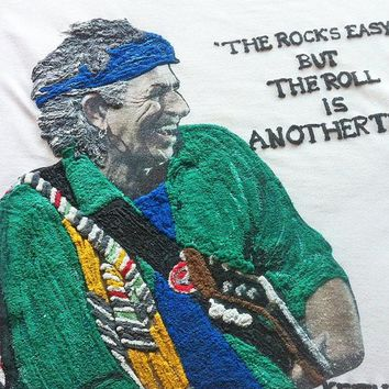 Keith Richards T-shirt Painted 3d Keef T shirt Rock Tshirt