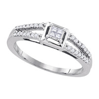 Diamond Fashion Ring in Sterling Silver 0.2 ctw