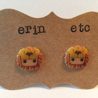 Handmade Plastic Fandom Earrings - Harry Potter - Luna Lovegood (Lion Mane)