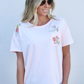 Picking Wildflowers Slouchy Tee {Rose}
