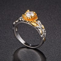 Flower Shaped Promise Ring