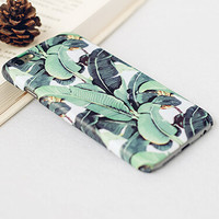 Original Banana Leaf iPhone 7 7Plus & iPhone 6s 6 Plus Case Cover + Free Gift Box