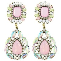 Oversized Pastel Shimmer Chandelier Earrings - Chelsea Doll