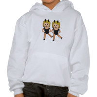 Woman With Bunny Ears Emoji Hoody