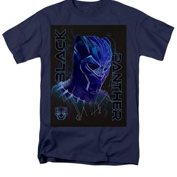 Marvel Black Panther Geo Tech Purple Ombre Portrait - Men's T-Shirt  (Regular Fit)