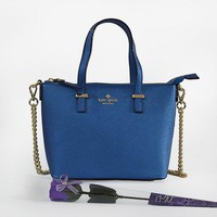 Hot Sale Kate Spade New York Women Fashion Shopping PU Tote Handbag Shoulder Bag Color Blue