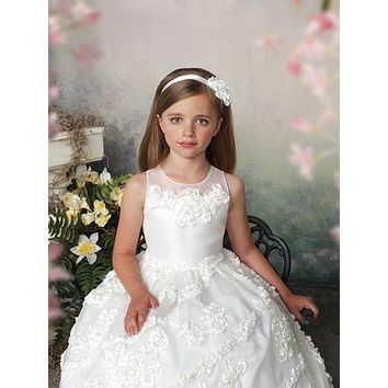 New Cap Sleeve Short 2017 First Communion Dresses Custom Made Holy Communion Dress Promotion Cute First communion gown Real