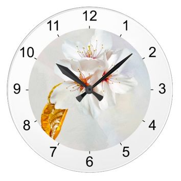 Sakura - Japanese cherry blossom Large Clock