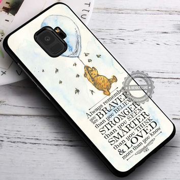 Always Remember Winnie the Pooh iPhone X 8 7 Plus 6s Cases Samsung Galaxy S9 S8 Plus S7 edge NOTE 8 Covers #SamsungS9 #iphoneX