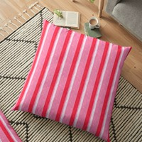 'Marshmallow Candy Stripes Style Design' Floor Pillow by JCIllustrator