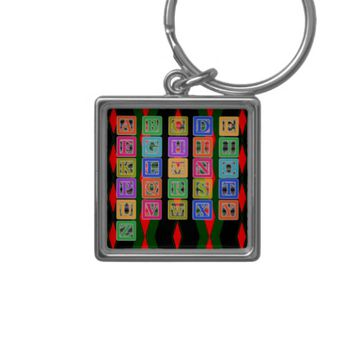 Block Letters Keychain