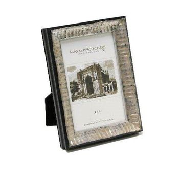 "Maxxi Designs Photo Frame with Easel Back, 8 x 10"", Antique Silver Lucca"