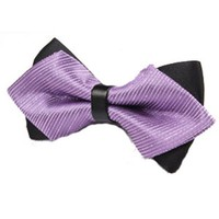 Men's Bow Ties Sharp Double Solid Color Groom