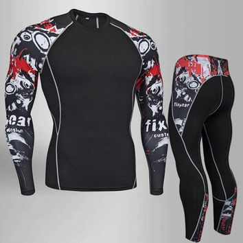 Skull Skulls Halloween Fall 2018 Fitness MMA compression mens tshirt rashguard men Long Sleeve t shirt crossfit bodybuilding mens  print 3D t-shirt top Calavera