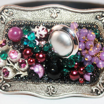 Jeweled Belt Buckle - Womens Belt Buckle