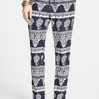 Blu Pepper Print Track Pants (Juniors)
