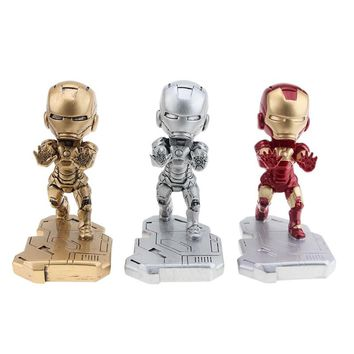 Fashion Marvel Avenger Iron Man Mobile Phone Stand Holder For Mini Desk Stand For iPhone Xiaomi Samsung Cartoon Phone Holder