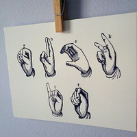 Suck It Postcard, Deaf ASL postcard, funny postcard, deaf wall art