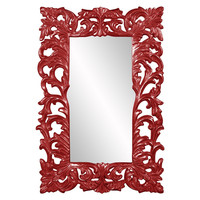 "Howard Elliott Augustus Glossy Red Mirror  46"" x 70"" x 2.1/2"""