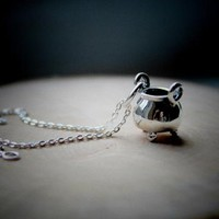 STERLING SILVER 'TOIL AND TROUBLE' NECKLACE