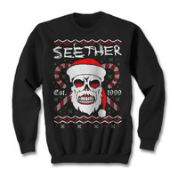 Official Seether Bad Santa Holiday Crewneck Sweater | Seether