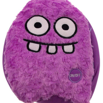 "Purple Rocket Head Pillow Color LED Light Up Flash Plush 10"" Microbeads Decor"