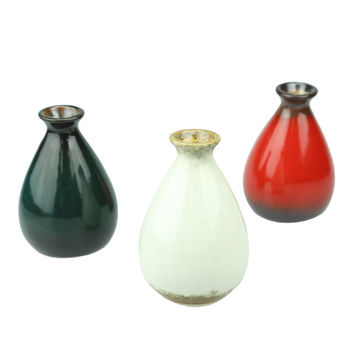Hot Ceramic  Flower Pot Blue Chinese Vase Small Vintage Bottle Garden Decoration Vases