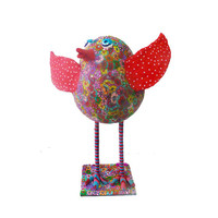 polymer clay sculpture bird - animal Collectibles