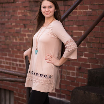 Little Beige Lace Tunic