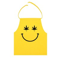 Stoned Smily Halter Top- Yellow
