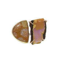 Opal and Sandstone Double Ring - View All - New Arrivals - Ylang 23