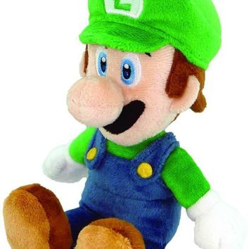 Nintendo Official Super Mario Luigi Plush, 8""